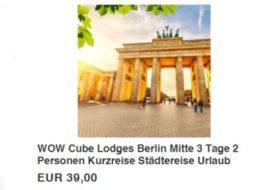 Berlin: Zwei Nächte für zwei in den Cube-Lodges für 39 Euro