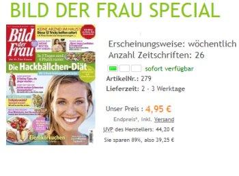 Bild der Frau: Halbjahresabo mit 26 Heften für 4,95 Euro