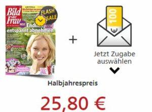 """""""Bild der Frau"""": Halbjahresabo für 25,80 Euro mit Prämien über 25 Euro"""