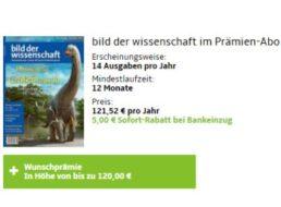 """""""Bild der Wissenschaft"""": Jahresabo für 116,52 Euro mit Prämien über 120 Euro"""