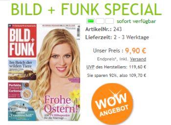 Bild + Funk: Jahresabo für 9,90 statt 119,60 Euro