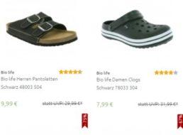"""Outlet46: """"Bio Life""""-Schuhe für 7,99 bis 9,99 Euro frei Haus"""