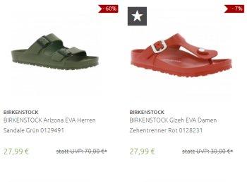 Birkenstock: Sale bei Outlet46 mit Sandalen ab 20,69 Euro frei Haus