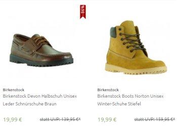 Birkenstock: Schuhe und Stiefel für 19,95 Euro frei Haus