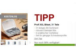 Druckerzubehoer.de: 31-teiliges Bitset für 0 Euro plus Versand