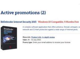 Wieder da: Bitdefender Internet Security für neun Monate gratis