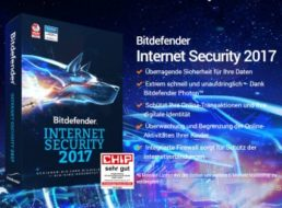 """Gratis: """"Bitdefender Internet Security 2017"""" für ein Jahr zum Nulltarif"""