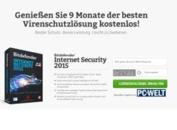 Bitdefender: Internet Security 2015 für 270 Tage gratis nutzen