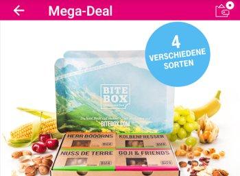 Gratis: Bite Box mit vier Nussriegeln für Telekom-Kunden zum Nulltarif