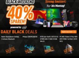 Notebooksbilliger: Black Weekend mit bis zu 40 Prozent Rabatt