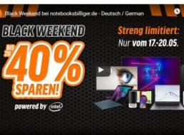 """Notebooksbilliger: """"Black Weekend"""" mit bis zu 40 Prozent Rabatt"""