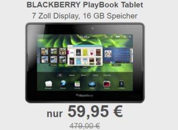 Allyouneed: BlackBerry PlayBook als Neuware für 59,95 Euro frei Haus