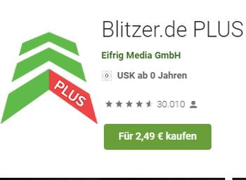 Blitzer Plus: App jetzt mit 50 Prozent Rabatt für 2,49 Euro bei Google Play