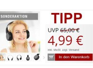Druckerzubehoer.de: Bluetooth-Kopfhörer für 10,96 Euro mit Versand