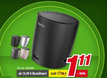 Völkner: Bluetooth-Lautsprecher für 1,11 Euro, weitere Artikel für 11 Euro