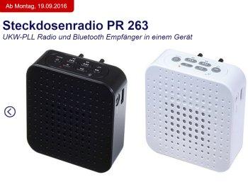 Aldi-Süd: Steckdosenradio Terris PR 263 mit Bluetooth für 44,95 Euro