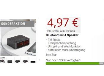 Druckerzubehoer.de: Bluetooth-Radiowecker mit Freisprechfunktion für 4,97 Euro