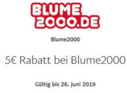 Gratis: 5 Euro Guthaben bei Blume 2000 via Paypal