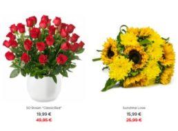 Blumeideal: 50 rote Rosen für 19,99 Euro plus Versand