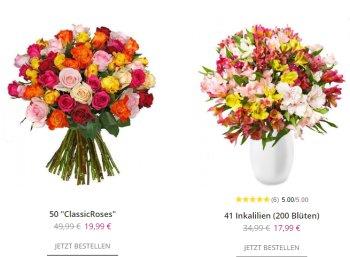 Blumeideal: 50 bunte Rosen für 24,98 Euro frei Haus