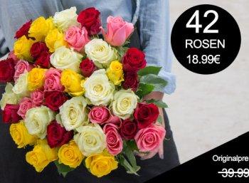 Blumeideal: 42 Rosen für 23,98 Euro mit Versand