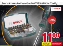 Völkner: Bosch-Bitset mit 33 Teilen für elf Euro frei Haus