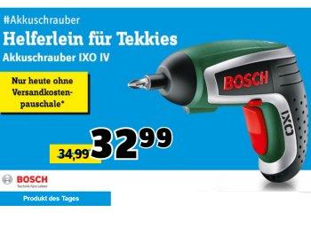 Conrad: Akkuschrauber Bosch IXO IV für 32,99 Euro frei Haus