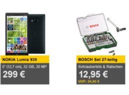 Bosch: Schrauberbit- und Ratschenset mit 27 Teilen für 12,95 Euro frei Haus