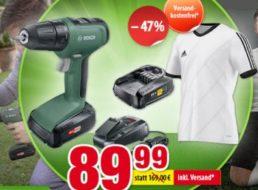 Völkner: Bosch-Akkuschrauber mit Adidas-Trikot für 89,99 Euro frei Haus