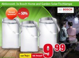 Bosch: Solarlampen im Dreierset für 9,99 Euro frei Haus
