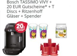 Ebay: Bosch Tassimo Vivy mit 20 Euro-Gutscheinen & mehr für 39,99 Euro