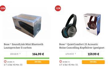 """Dealclub: Kopfhörer """"Bose QuietComfort 25"""" für 159,99 Euro frei Haus"""