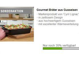 Druckerzubehoer.de: Gourmet-Bräter für 8,97 Euro plus Versand