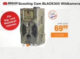 Plus: Wildkamera Braun Scouting Cam BLACK300 für 69,99 Euro frei Haus