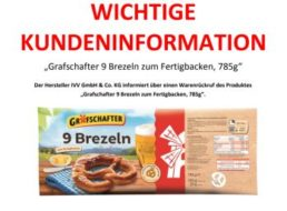 Rückruf: Metallteile in Tiefkühlbrezeln von Lidl gefunden