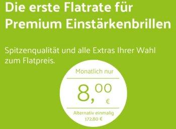 Nur bis Ende Juni: Brillen-Flatrate für acht Euro im Monat