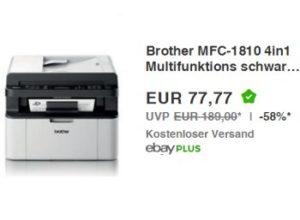 Ebay: 4-in-1-Laserdrucker Brother MFC-1810 für 77,77 Euro frei Haus