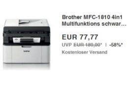 Ebay: 4-in-1-Drucker Brother MFC-1810 für 77,77 Euro frei Haus
