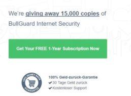 """Gratis: Jahreslizenz von """"Bullguard Internet Security"""" zum Nulltarif"""