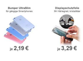Wieder da: Bumper und Displayschutzfolien für Smartphones mit Gratis-Versand