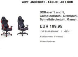 Ebay: Bürostuhl / Gamingstuhl DXRacer 1 für 189,95 Euro frei Haus