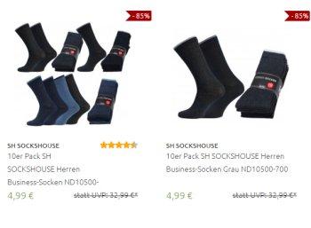 Outlet46: Business-Socken im Zehnerpack für 4,99 Euro frei Haus