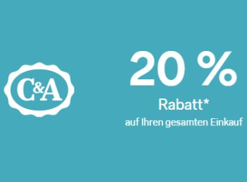 C&A: 20 Prozent Rabatt, auch auf bereits reduzierte Ware