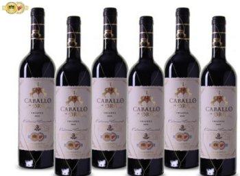 """Weinvorteil: Goldprämierter """"""""Caballo de Oro"""" im Sechserpack für 32 Euro frei Haus"""