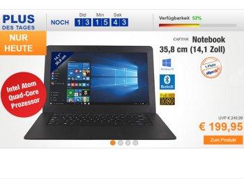 Plus: Captiva-Notebook mit IPS-Display für 199,95 Euro frei Haus