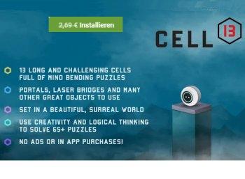 """Gratis: Android-Spiel """"Cell 13"""" für kurze Zeit zum Nulltarif"""
