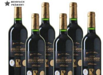 Weinvorteil. Achtfach prämierter Bordeaux im Sechserpack für 38 Euro frei Haus