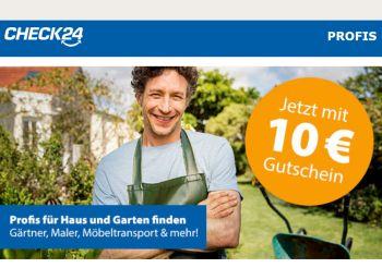 Gratis: Gutschein über 10 Euro zur Handwerkerbuchung bei Check24