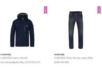 Outlet46: Chiemsee-Jacken und -Jeans ab 39,99 Euro frei Haus
