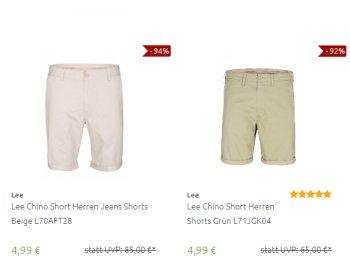 Outlet46: Chino-Shorts für 4,99 Euro frei Haus